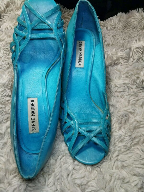 Steve Madden turquoise soft genuine leather size 7 1d8f7d4a-a3e7-4611-9ac8-a4a743b1beb0