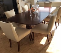 Custom English Wood Dining Table Double Pedestal Montréal, H3W 2C3