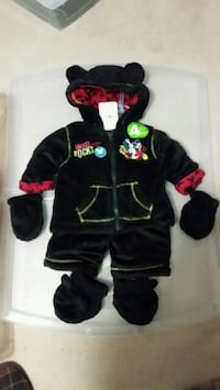 Disney black footie snow suit Fergus
