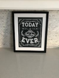 black framed today will be the best day ever artwork Vaughan, L4H 1R7