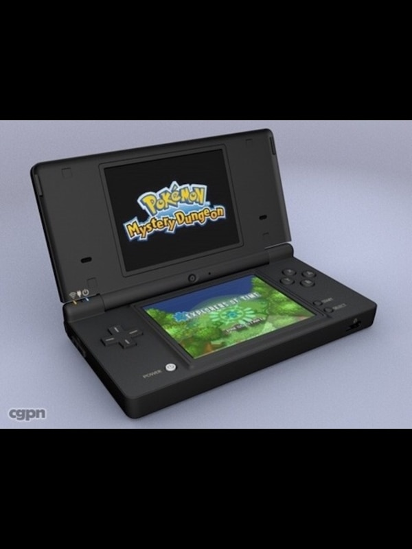 black Nintendo DS with game cartridge