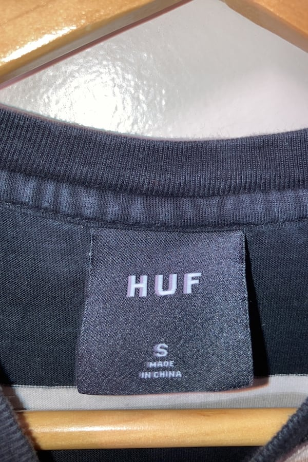 HUF embrodiered long sleeve shirt  2