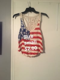 women's red and white tank top Columbus, 31909