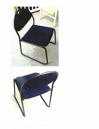 Four padded metal frame office chairs Bradford West Gwillimbury