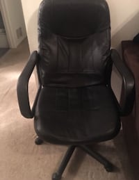 black leather padded rolling armchair Pleasantville, 08201