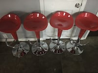 Brand new set of 4 modern red bar stools  San Antonio, 78255