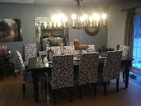 Dining room table and ten chairs Adjala-Tosorontio, L0M 1J0