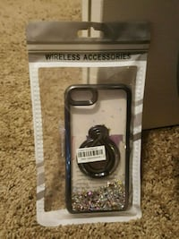 iPhone 7/8 case floatong glitter ring to hold it Provo, 84606