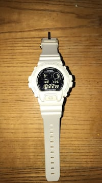 White G-Shock Watch Boston