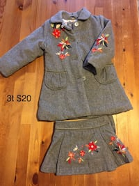 Lined winter Toddler/3t coat and skirt Waltham, 02453
