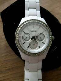 Fossil chronograph watch with white link bra Surrey, V3R 6X1