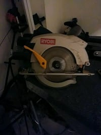 white and gray Ryobi circular saw Clarksville, 37040