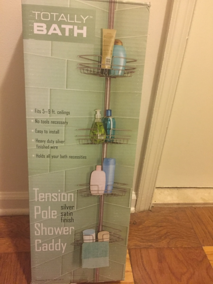 Used Totally bath tension pole shower caddy (NEVER USED) would not ...