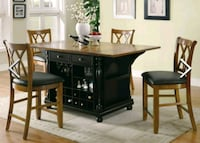 Coaster Kitchen Island table with 2 chairs Yorktown, 23690