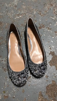 pair of black leather flats Toronto, M1K 4B7