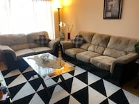 brown and black living room set Laval, H7W 1T7
