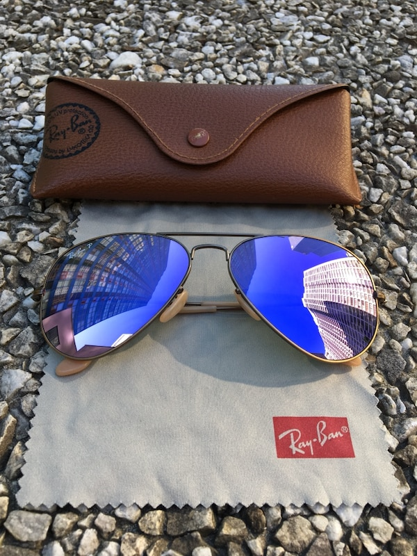 84c09ca01b6 Used black framed Ray-Ban sunglasses with case for sale in Toronto ...