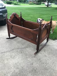 Primitive handmade rocking cradle