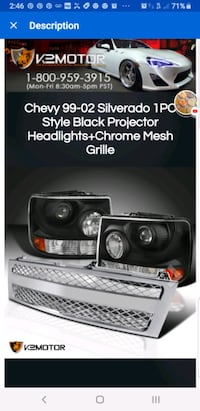NEW GRILLE and 2 SPEC-D TUNING HEADLIGHTS Hendersonville, 37075