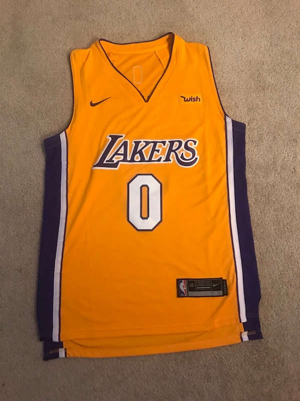 size 40 8ac2a d58fc Kyle Kuzma #0 Icon Lakers Jersey from (17-18 Season)