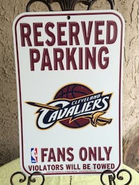 Cavaliers Parking Sign Modesto, 95355
