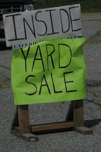 Inside yard sale  null