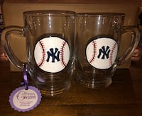 Hand Painted Glass Yankees Mugs Herndon, 20171