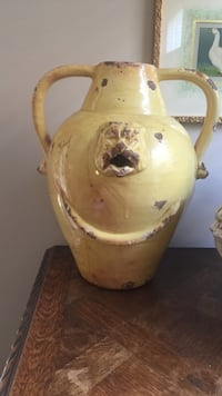 Yellow ceramic jar with handle Bonita Springs, 34135
