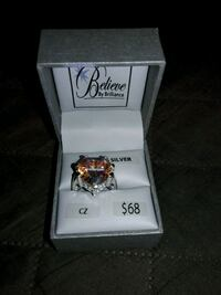 CZ sterling silver ring size 6