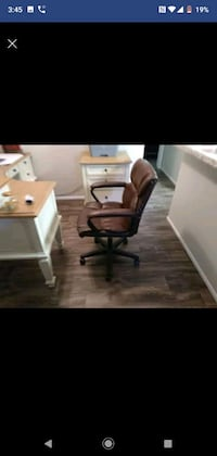 Brown Faux Leather Desk Chair Midvale, 84047