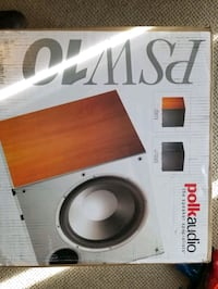 """Brand New Polk Audio PSW10 10"""" Powered Subwoofer - Featuring High Curr Washington, 20005"""