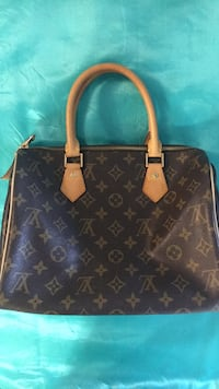 Louis Vuitton leather hand bag . Brown with logo Vaughan, L4J 0G8