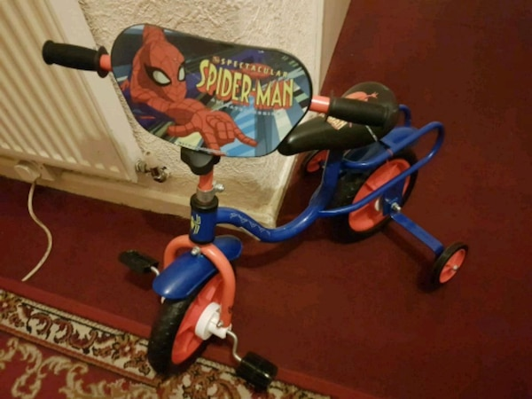 Spiderman bike really cleaned hardly used