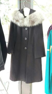 50's button-up fur coat