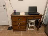 Desk with bookshelf