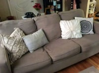 MUST GO: Tan fabric 3-seat sofa with hide-a-bed Overland Park, 66204