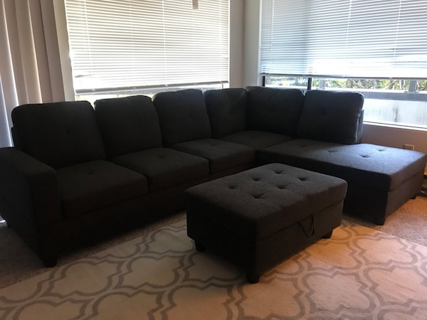 BRAND NEW!  Charcoal Gray Sectional
