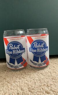 Pabst Blue Ribbon Beer can shaped glasses