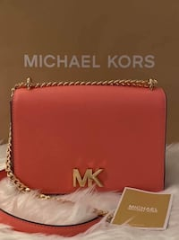 Michael Kors Mott Large Two-Tone Learher Bag