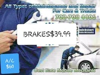 BRAKES Mobile mechanic Las Vegas