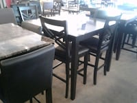 Black Wood Counter Height W/ 4 Chairs Phoenix, 85018