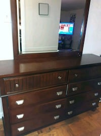 brown wooden dresser with mirror 41 km