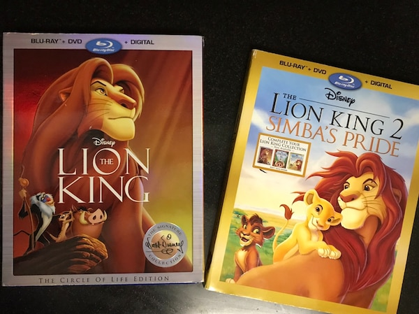 2 Blu Ray dvds-lion king 1&2 a98bf908-e4f5-4199-8a70-9b2fbd1c4708