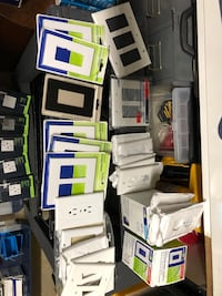 LOT of Decora plus screwless wallplate, Leviton preferred unbreakable, Lutron Clara, standard outlet double & single Anaheim