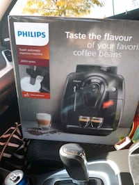 Phillip's sacoo expresso maker with Forster  super machine