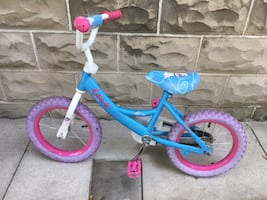 Child's First Bike with Training Wheels