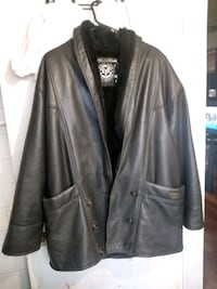 black leather button-up jacket Windsor, N8W 3W4
