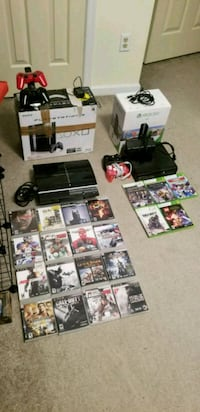 PS3 (80GB) and XBOX 360 (4GB) plus games Newport News, 23608
