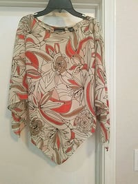 white, orange, and brown floral long sleeve dress McAllen, 78504