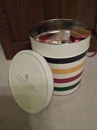 Hudson's Bay Co. Tin container ; here with ribbons Burlington, L7L 1C2